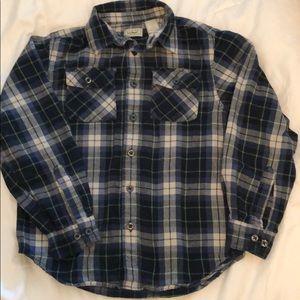 LL Bean boy's flannel shirt